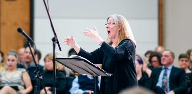 Carol Kozak Ward conducting