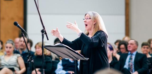Carol Kozak Ward conducting