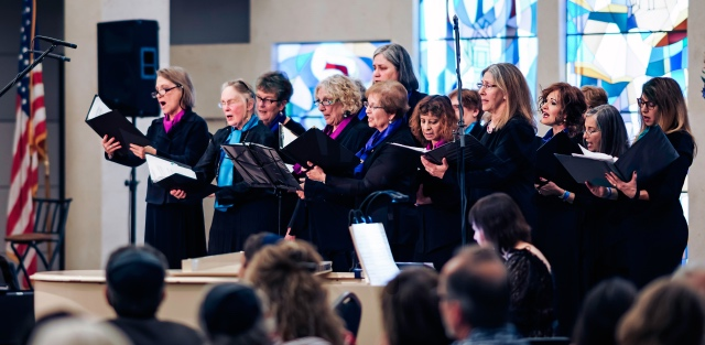 The women of Kol Nashim singing